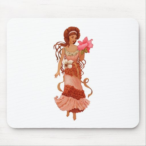 Hibiscus Women Mouse Pad