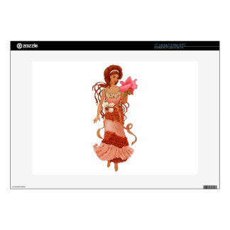 """Hibiscus Women Skin For 15"""" Laptop"""