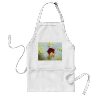 Hibiscus Yellow w Red center Aprons