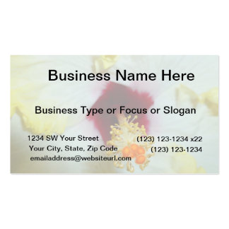 Hibiscus Yellow w Red center Business Card