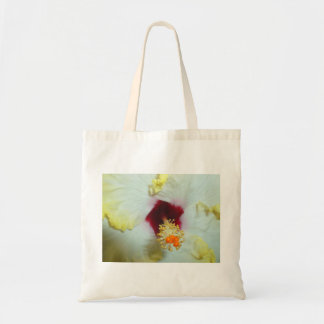 Hibiscus Yellow w Red center Canvas Bag