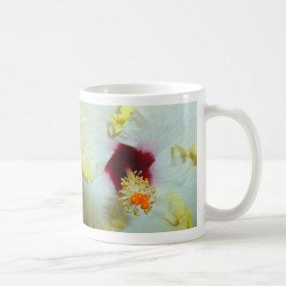 Hibiscus Yellow w Red center Coffee Mugs