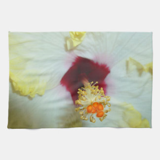 Hibiscus Yellow w Red center Hand Towel