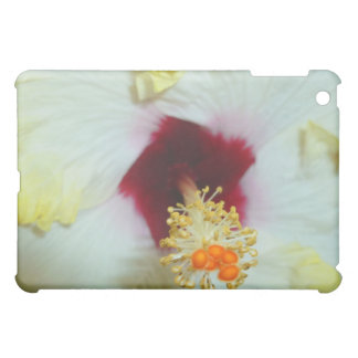 Hibiscus Yellow w Red center iPad Mini Covers