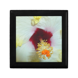 Hibiscus Yellow w Red center Jewelry Boxes