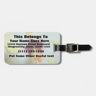 Hibiscus Yellow w Red center Luggage Tag