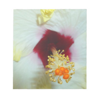 Hibiscus Yellow w Red center Memo Note Pads