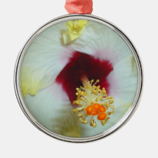 Hibiscus Yellow w Red center Ornaments