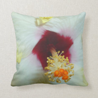 Hibiscus Yellow w Red center Pillow