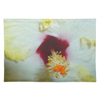 Hibiscus Yellow w Red center Placemat