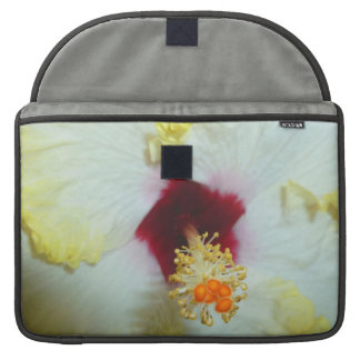 Hibiscus Yellow w Red center Sleeves For MacBooks