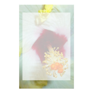 Hibiscus Yellow w Red center Stationery Paper
