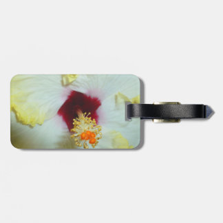 Hibiscus Yellow w Red center Tag For Bags