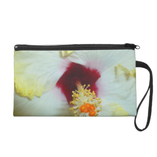 Hibiscus Yellow w Red center Wristlet Purses