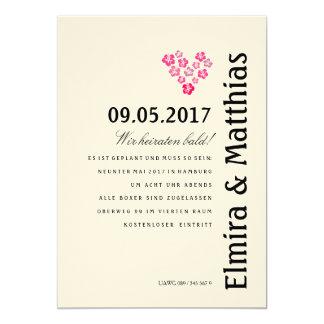 Hibiskus Einladung Card