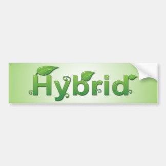 """""""Híbrido"""" con la pegatina para el parachoques de l Pegatina De Parachoque"""
