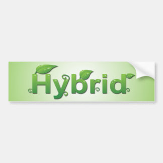 """""""Híbrido"""" con la pegatina para el parachoques de l Pegatina Para Auto"""