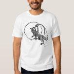híbrido del lobo del dragón remeras