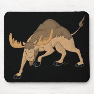 Híbrido enojado Mousepad de los alces del camello