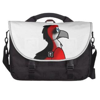 Híbrido rojo/del negro/blanco del pájaro bolsa para ordenador