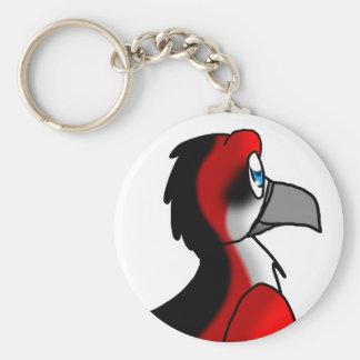 Híbrido rojo/del negro/blanco del pájaro llaveros