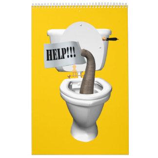Híbridos cómicos 2015 del elefante calendario