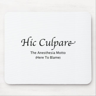 Hic Culpare -- Explained Mouse Pads