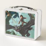 "Hiccup Riding Toothless &quot;Dragon Rider&quot; Scene Metal Lunch Box<br><div class=""desc"">How To Train Your Dragon 