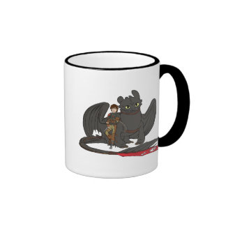 Hiccup & Toothless Ringer Coffee Mug