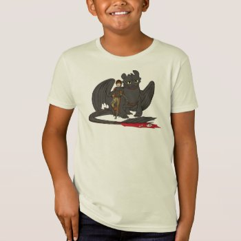 Hiccup & Toothless T-shirt by howtotrainyourdragon at Zazzle
