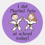 Hice artes marciales en los pegatinas de la pegatinas redondas
