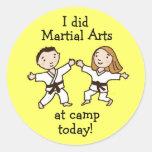 Hice artes marciales en los pegatinas del campo pegatinas redondas