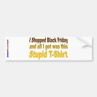 Hice compras viernes negro pegatina para auto