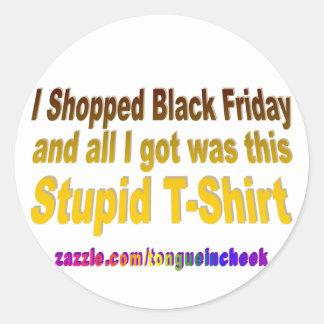 Hice compras viernes negro pegatina redonda