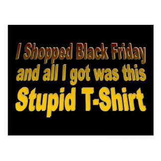 Hice compras viernes negro tarjeta postal