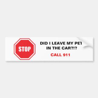 Hice dejo a mi mascota en el coche - personalizabl pegatina para auto