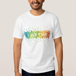 """""""Hice esta"""" camiseta de los pixeles (blanca) Playeras"""