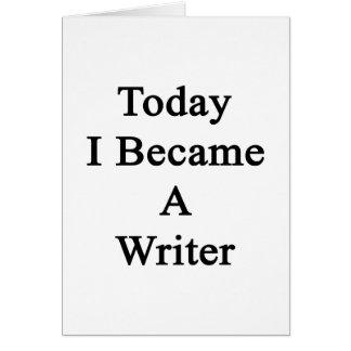 Hice hoy escritor tarjeton