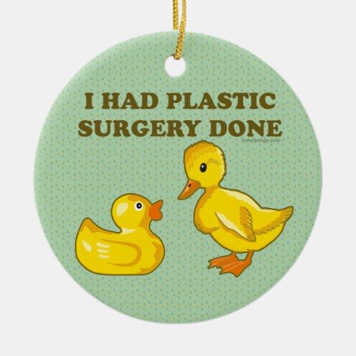 Hice la cirugía plástica hacer adorno redondo de cerámica