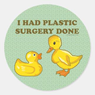 Hice la cirugía plástica hacer etiquetas redondas