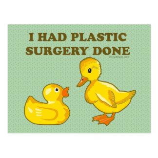 Hice la cirugía plástica hacer postales