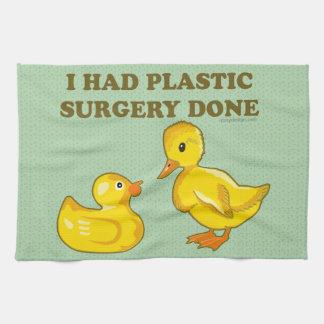 Hice la cirugía plástica hacer toalla de cocina