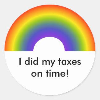 ¡Hice mis impuestos el tiempo! pegatina