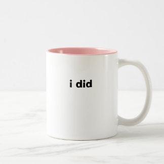hice tazas