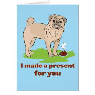 Hice un presente para usted poos del perro del bar tarjeta de felicitación