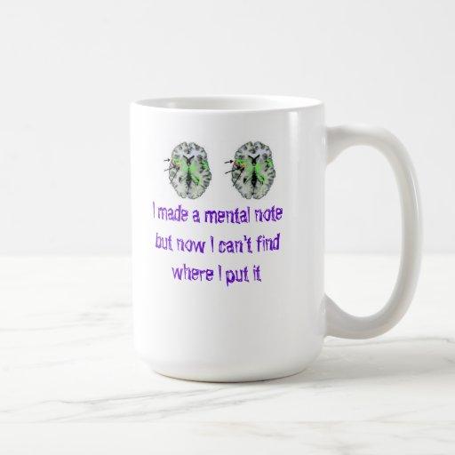 Hice una nota mental… taza
