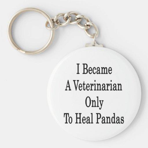 Hice veterinario para curar solamente pandas llavero redondo tipo pin