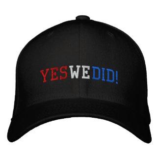 Hicimos sí casquillo bordado gorra bordada