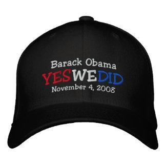 Hicimos sí el gorra bordado Barack Obama Gorras De Beisbol Bordadas