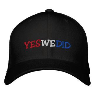Hicimos sí el gorra bordado Barack Obama Gorra Bordada